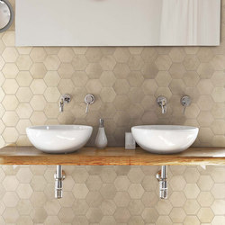 Visions Sand Mosaico Esagone Soft | Ceramic mosaics | Rex Ceramiche Artistiche by Florim