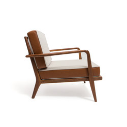 Rail Back Arm Chair