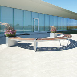 LXM1500-00021 Layout | Exterior benches | Maglin Site Furniture