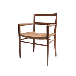 Woven Rush Seat Dining Chair w/ Arms | Sedie ristorante | Smilow Design