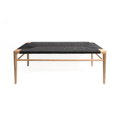 Woven Rush Bench | Bancos | Smilow Design