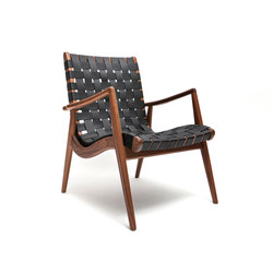 Woven Leather Armchair | Sessel | Smilow Design