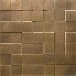 Square 50 ottone délabré | Metal mosaics | De Castelli