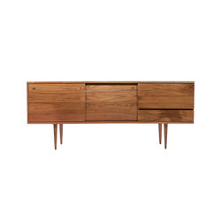 3 Door Credenza with Tapered Legs or Wall Mounted | Credenze | Smilow Design