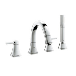 Grandera Roman Tub Filler with Personal Hand Shower | Bath taps | Grohe USA