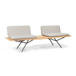 San Double 1 Seater | Garden benches | Manutti