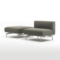 L-Sofa Central Element & Pouf | Poufs | Giulio Marelli