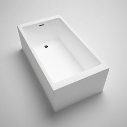box | freestanding or alcove acrylic bathtub 60"