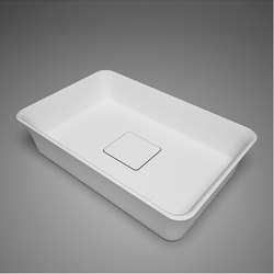 metrix | blu•stone™  rectangular countertop basin with drain cover | Wash basins | Blu Bathworks