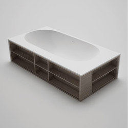 amanpuri•7 | blu•stone™ bathtub with recessed shelving | Vasche ad isola | Blu Bathworks