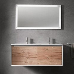 45º furniture | FULL • series 1400 wall-mount vanity | Mobili lavabo | Blu Bathworks