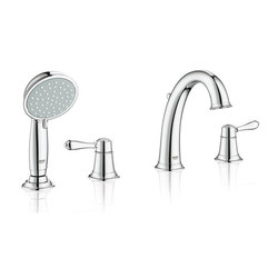 Fairborn Roman Tub Filler with personal Hand Shower | Grifería para bañeras | Grohe USA