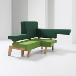 #002.04 WorkSofa | Modular seating elements | Prooff