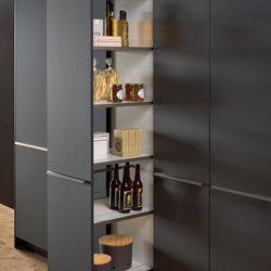 Cajón extraíble tipo farmacia Premium | Archivadores | Leicht Küchen AG