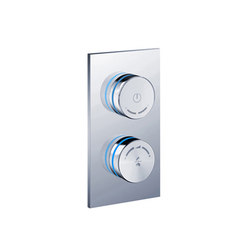 electronica | in-wall dual wheel interface | Duscharmaturen | Blu Bathworks