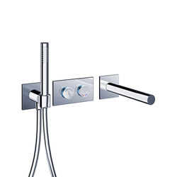 pure∙2 electronica | tubfiller & handshower digital thermostatic valve trim set | Bath taps | Blu Bathworks