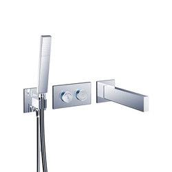 opus∙2 electronica | tubfiller & handshower digital thermostatic valve trim set | Bath taps | Blu Bathworks