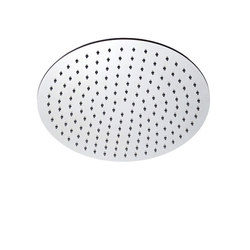 "inox | stainless steel 12"" shower head round 
