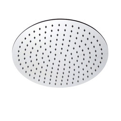 "inox | stainless steel 16"" shower head round 