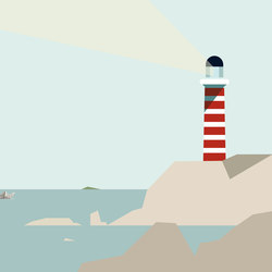Itinerary Lighthouse | Wandbeläge | GLAMORA