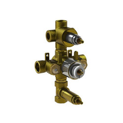 "rough-in valves | 3/4"" thermostatic tub/shower valve with 2-way diverter & volume control | Concealed elements | Blu Bathworks"
