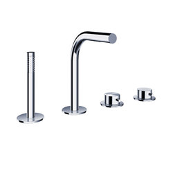 pure∙2 | four-hole deck mounted bath mixer | Bath taps | Blu Bathworks