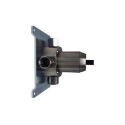 inox | stainless steel thermostatic rough-in valve for shower mixer | Unterputzelemente | Blu Bathworks