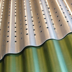 Corrugated Metal in Classic Slate Green Clear | Paneles metálicos | Moz Designs