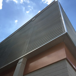 Corrugated Metal in Classic Light Graphite Fog - Exterior | Sheets | Moz Designs