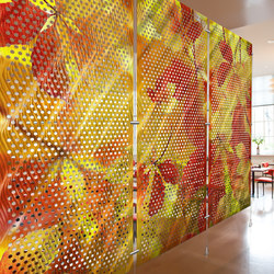 Metal Room Divider in Digital Imagery Metal Collection with Ripples on  Perforated Aluminum | Raumteilsysteme | Moz Designs