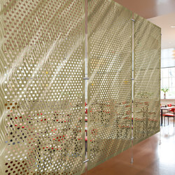 Metal Room Divider in Classic Collection on  Perforated Aluminum   Privacy screen   Moz Designs