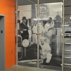 Metal Room Divider in Classic Collection on  Perforated Aluminum | Space dividers | Moz Designs