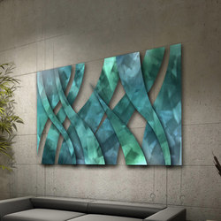 Metal Blendz Art in Blendz Collection  on Clouds Grain | Décoration murale | Moz Designs