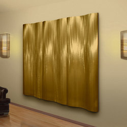 Metal Tides Art in Classic Collection Champagne on Coarse Grain | Wanddekoration | Moz Designs