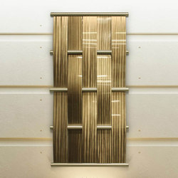 Metal Weave Art in Classic Collection Goldrush on Bamboo Grain | Décoration murale | Moz Designs