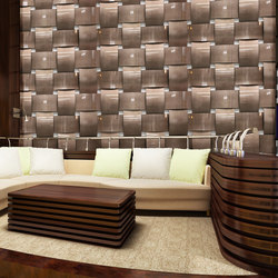 Basket Weave Wall in Classic  Khaki | Lastre in metallo | Moz Designs