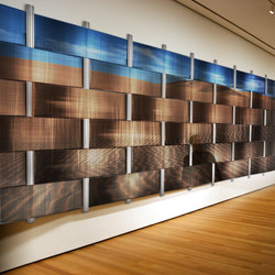 Weave Wall On Digital Imagery | Plaques de métal | Moz Designs