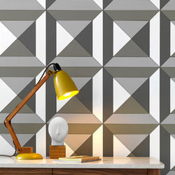 Facet Layered Tile | Elementi in vera pelle per pareti | Spinneybeck