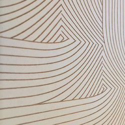 Fold Laser Engraved Tile | Natural leather wall tiles | Spinneybeck