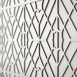 Maze Layered Tile | Elementi in vera pelle per pareti | Spinneybeck