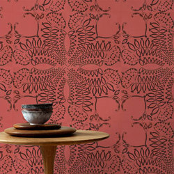Parasol Trellis Laser Engraved Tile | Natural leather wall tiles | Spinneybeck