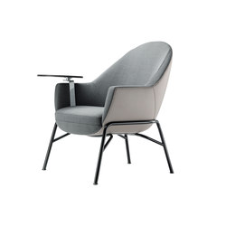 S 831 with a writing panel | Lounge-work seating | Gebrüder T 1819