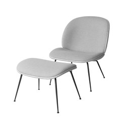 Beetle Lounge Chair and Stool | Loungesessel | GUBI