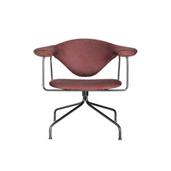 Masculo Swivel Lounge Chair | Poltrone | GUBI
