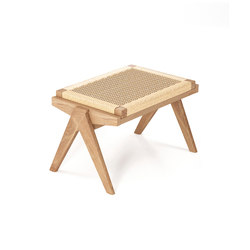 Tribute OTTOMAN with WOVEN DANISH PAPER CORD | Hocker | Karpenter