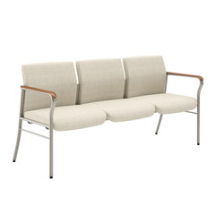 Confide Guest Three Seat Tandem No Center Arms or Legs | Beam / traverse seating | National Office Furniture