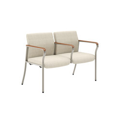 Confide Guest Two Seat Tandem No Center Legs | Beam / traverse seating | National Office Furniture