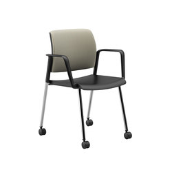 Lavoro Guest Chair with Upholstered Back & Plastic Seat, Mobile | Sedie visitatori | National Office Furniture