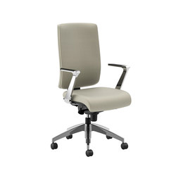 Lavoro Upholstered Back with Conference Arms & Polished Base | Sillas ejecutivas | National Office Furniture
