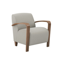 Reno One Seat Lounge Wood Arms | Poltrone lounge | National Office Furniture